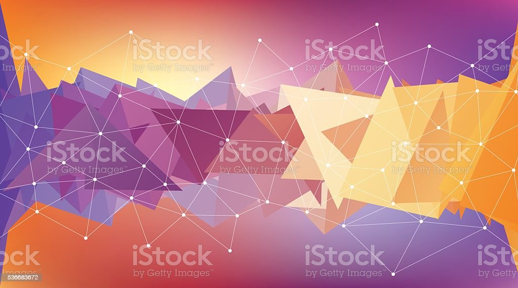 Multicolored low polygon shapes, color mosaic vector art illustration