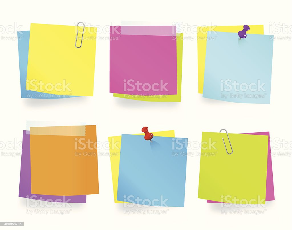 Multi-Colored Memos Vector vector art illustration