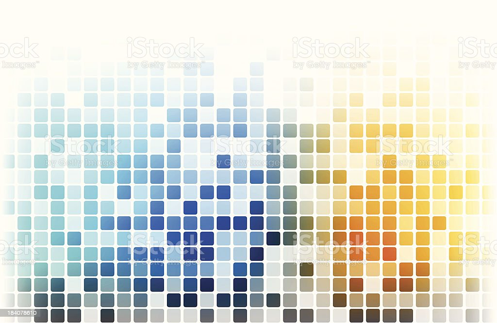 Multicolored pixels - VECTOR royalty-free stock vector art