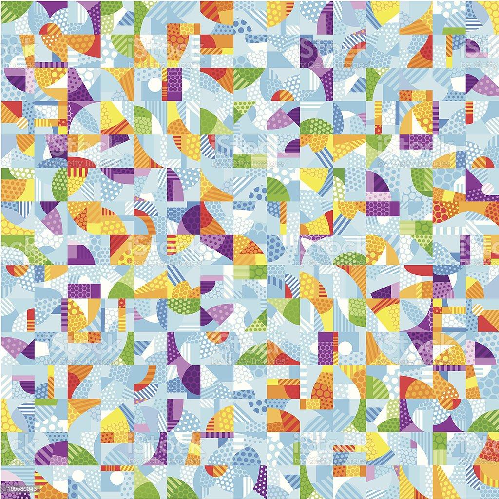 Multi-Colored Pop-Art Mosaic royalty-free stock vector art