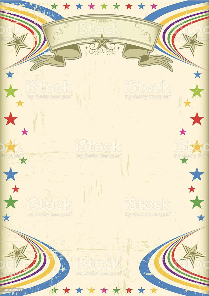 Multicolor fiesta poster royalty-free stock vector art