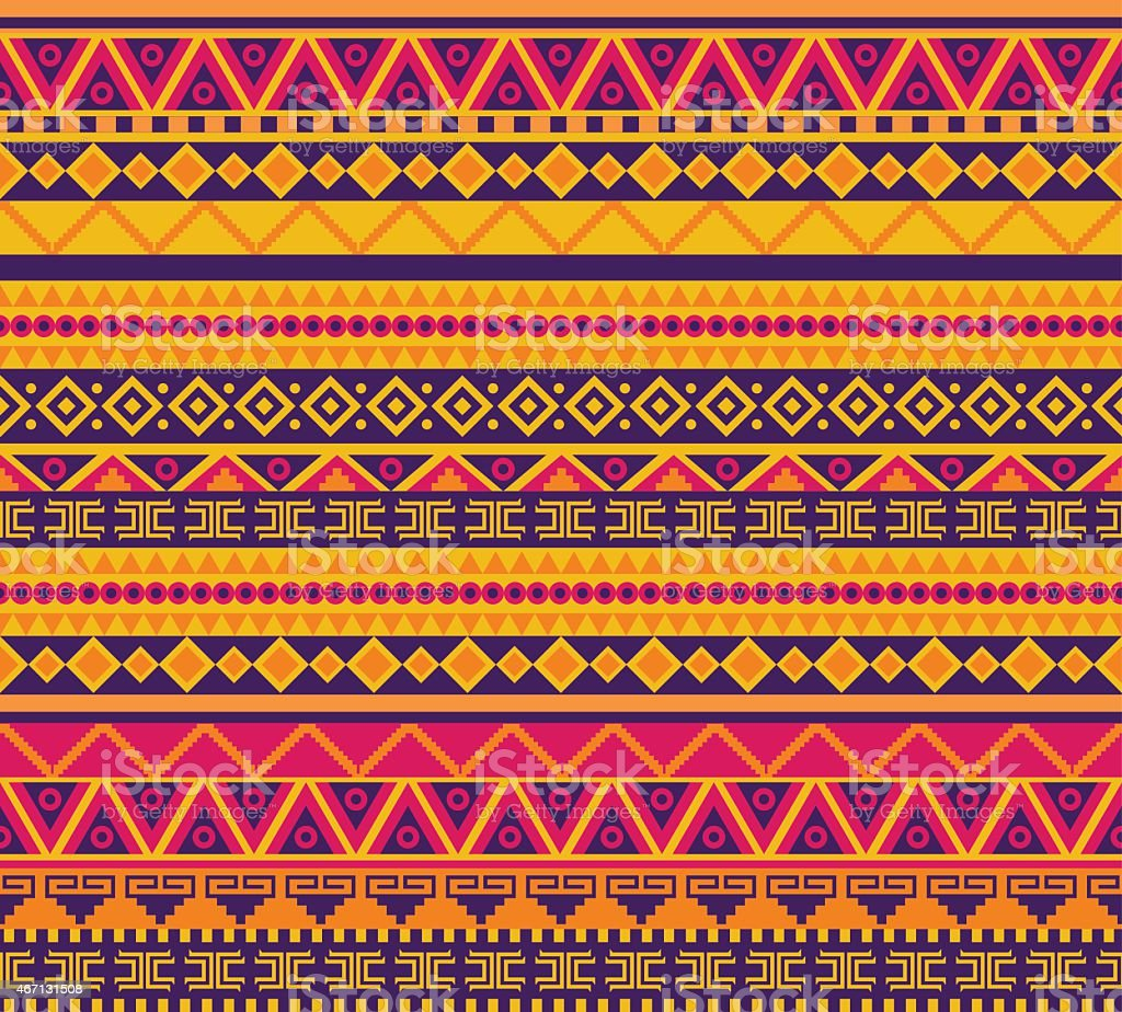 Multicolored tribal pattern background vector art illustration