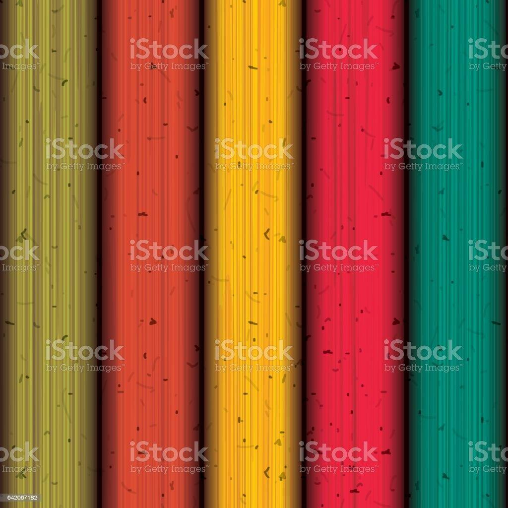 Multicolored Wood background design vector art illustration