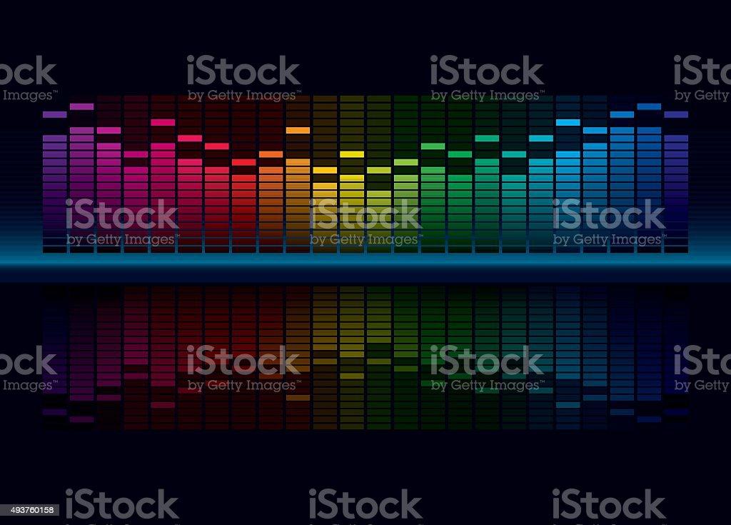 Multicolorl Graphic Equalizer vector art illustration