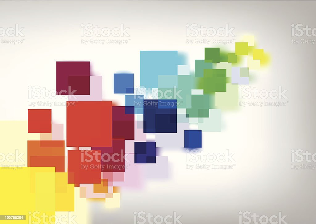 Multi-Colour Abstract Squares vector art illustration