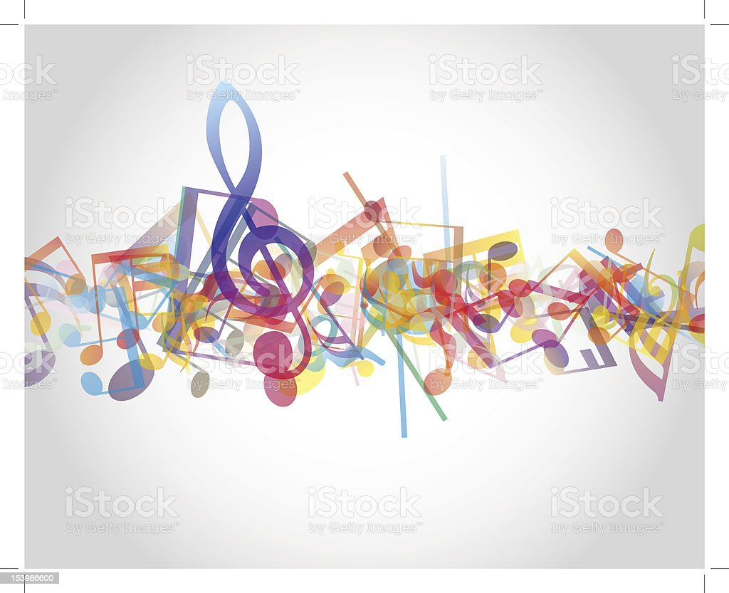 Multicolour  musical notes royalty-free stock vector art