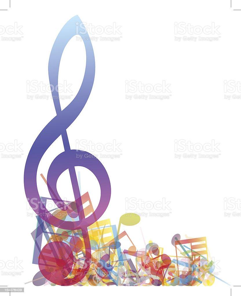Multicolour  musical notes royalty-free stock vector art