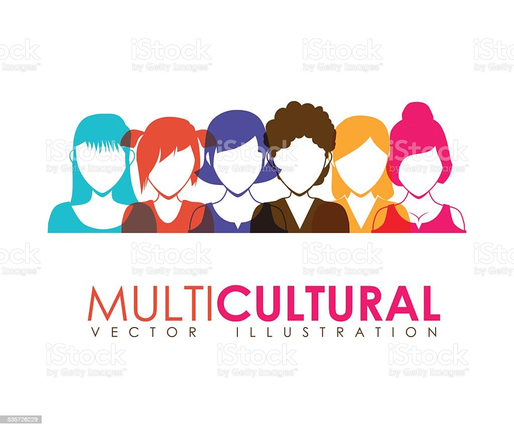 multicultural vector art illustration