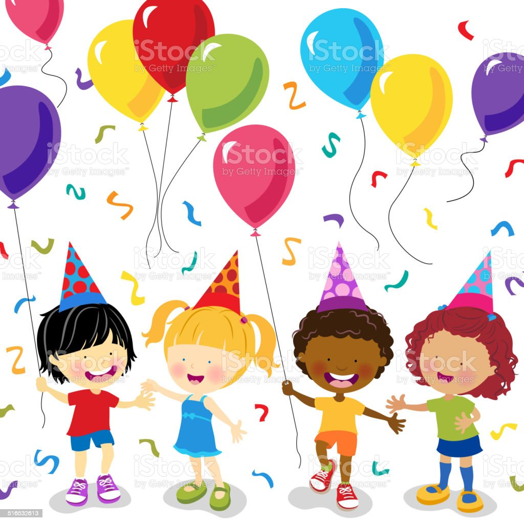 Child Party vector art illustration
