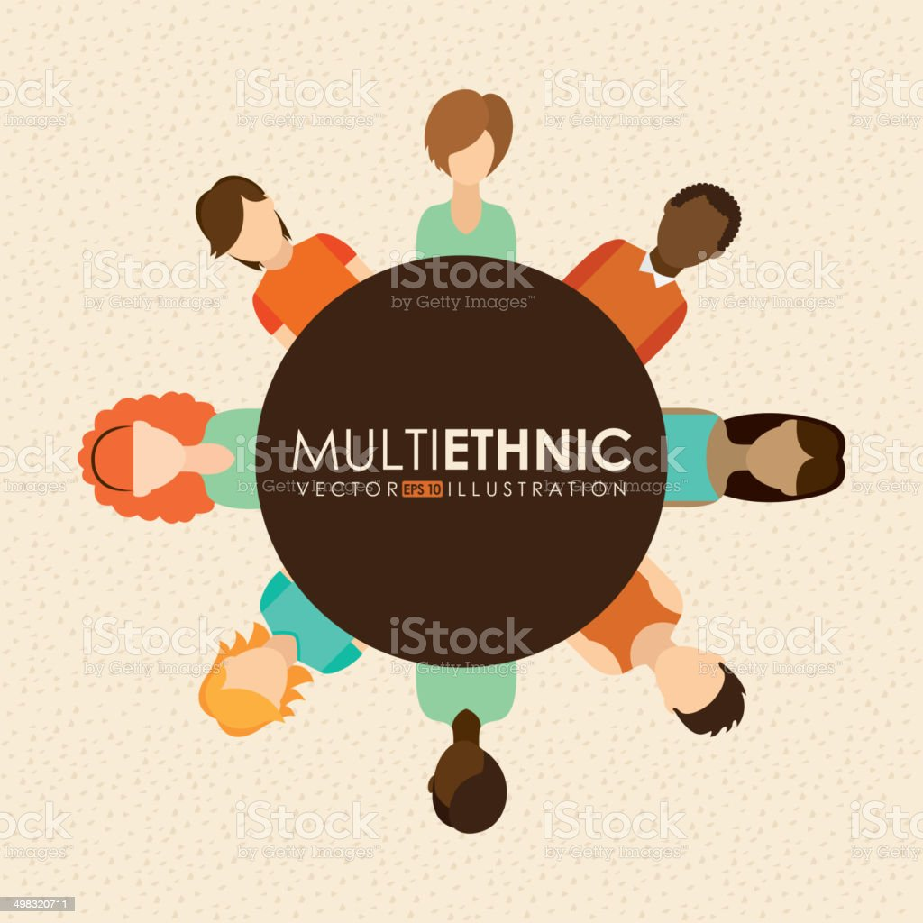Multiethnic design vector art illustration