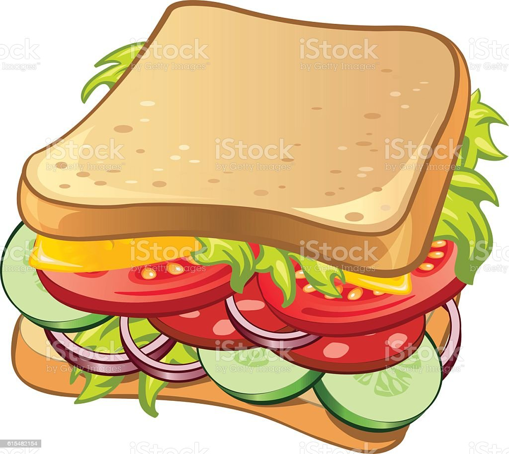 Multilayer Sandwich vector art illustration