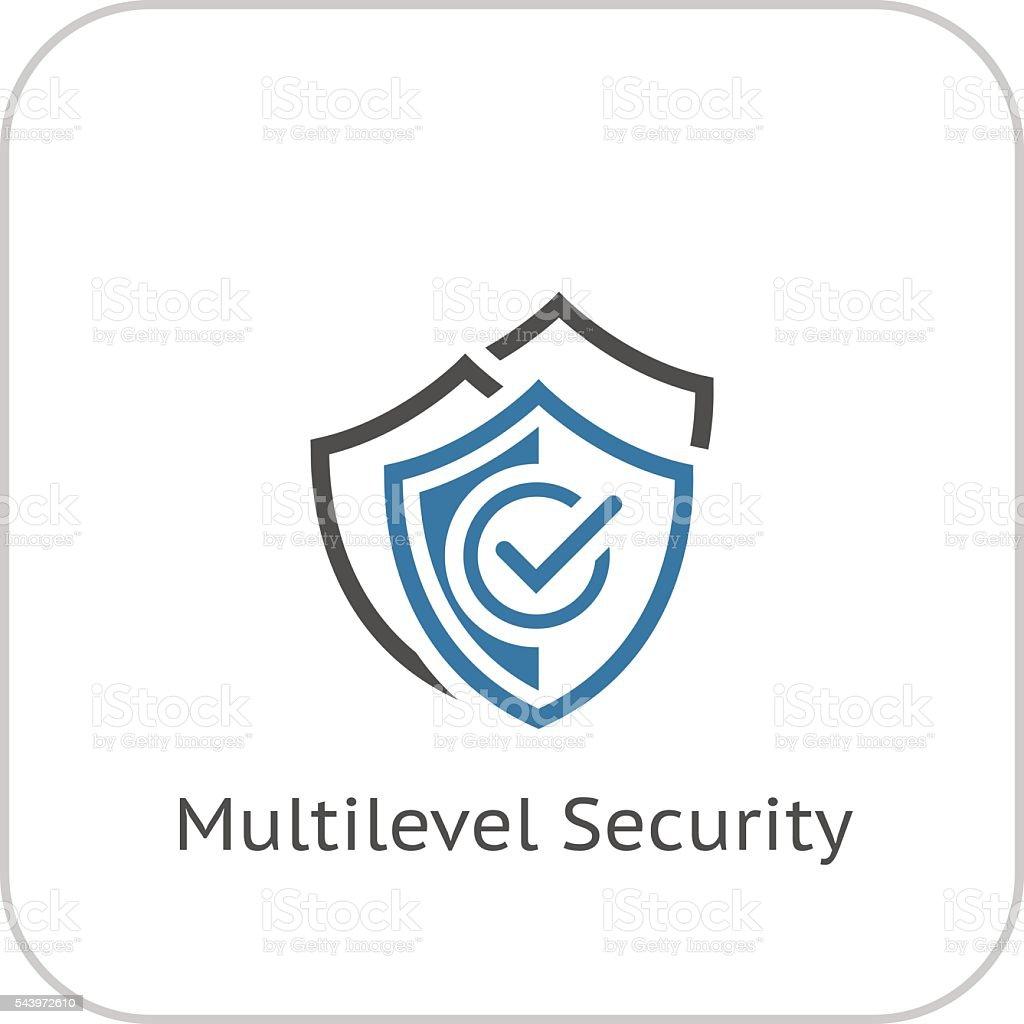 Multilevel Security Icon. Flat Design. vector art illustration