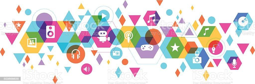 Multimedia Design vector art illustration