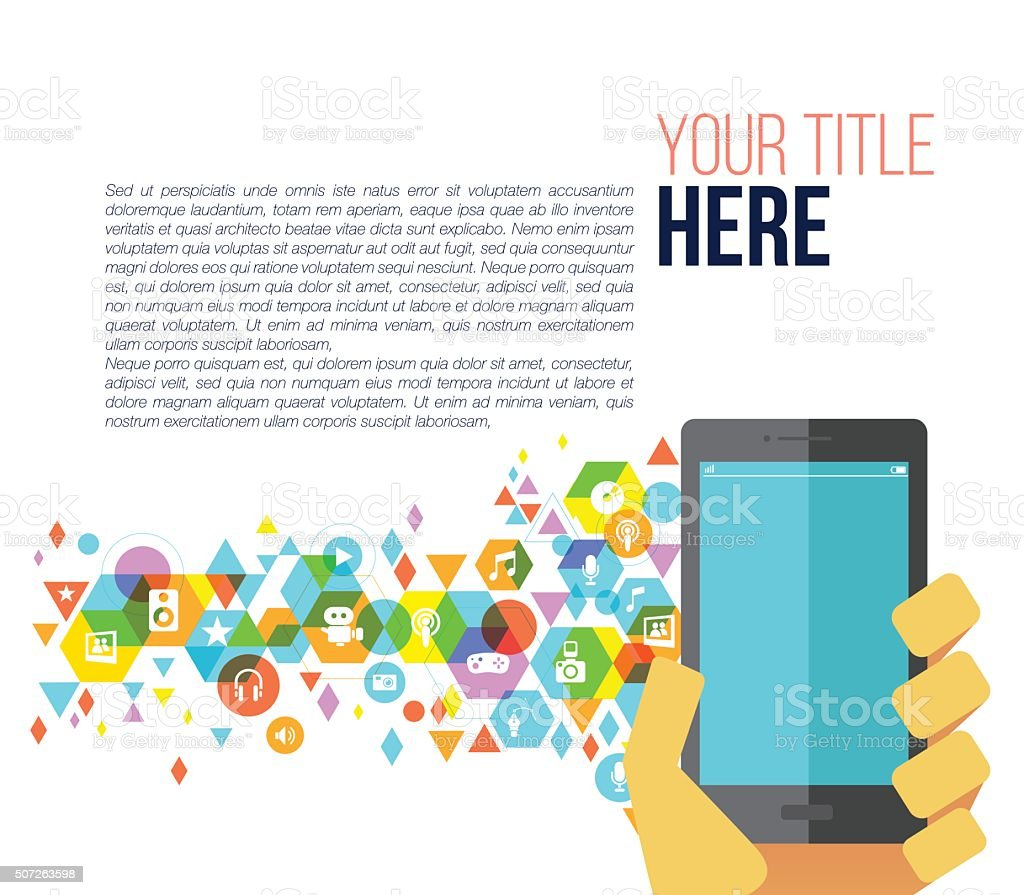 Multimedia for mobile page vector art illustration