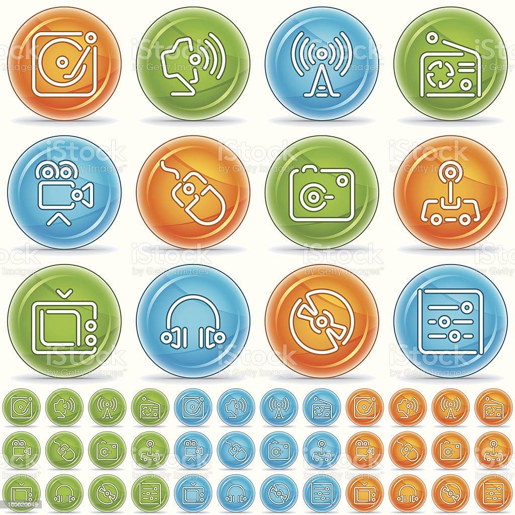 multimedia icons - magico bola royalty-free stock vector art