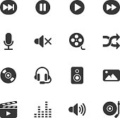 Multimedia icons - Regular