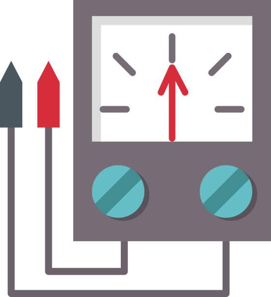 Voltmeter Clip Art : Multimeter electronics test equipment clip art vector