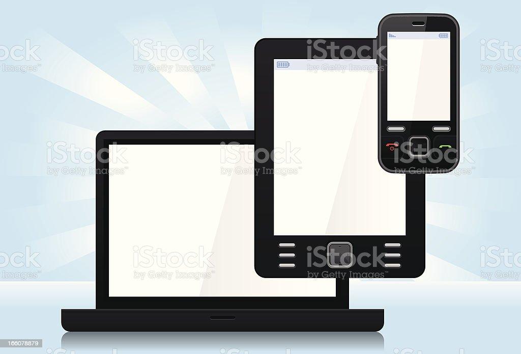 Multiplatform devices royalty-free stock vector art