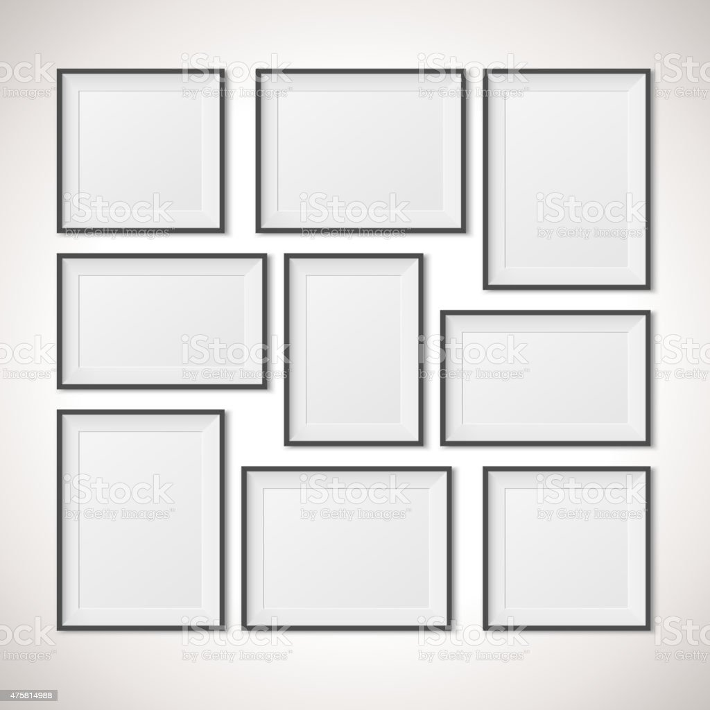Multiple Frames, vector illustration vector art illustration