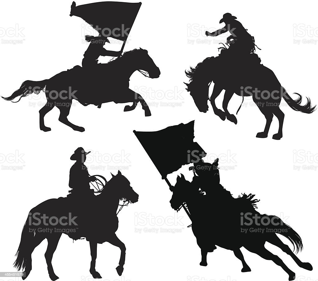 Multiple image of rodeo royalty-free stock vector art
