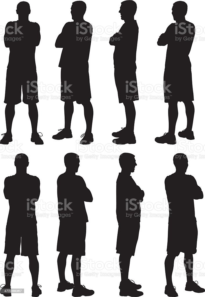 Multiple images of a man royalty-free stock vector art