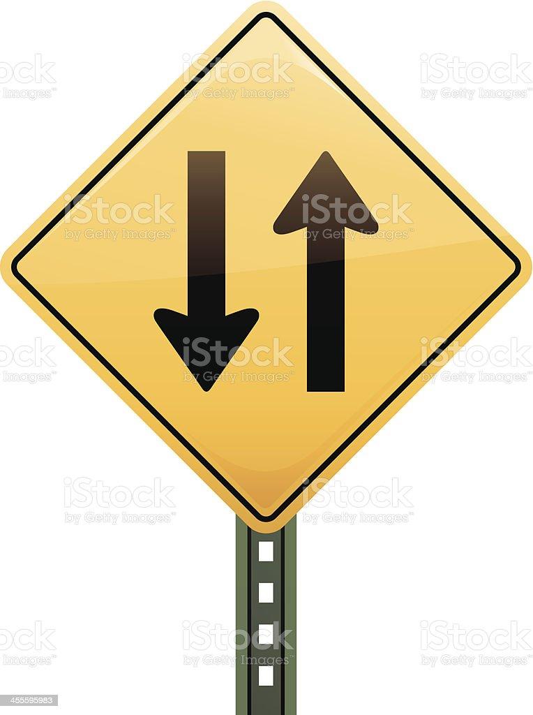 Multiple Lane Freeway Sign vector art illustration