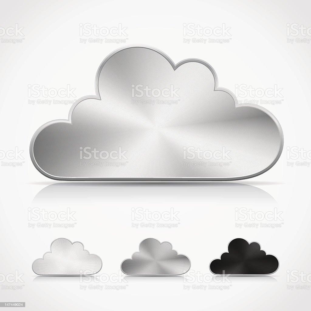 Multiple metallic cloud buttons royalty-free stock vector art