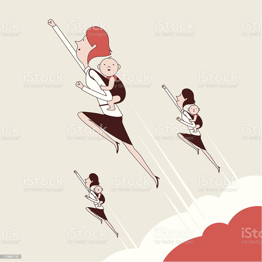 Mum Power vector art illustration