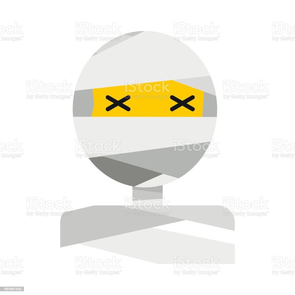 Mummy icon flat vector art illustration