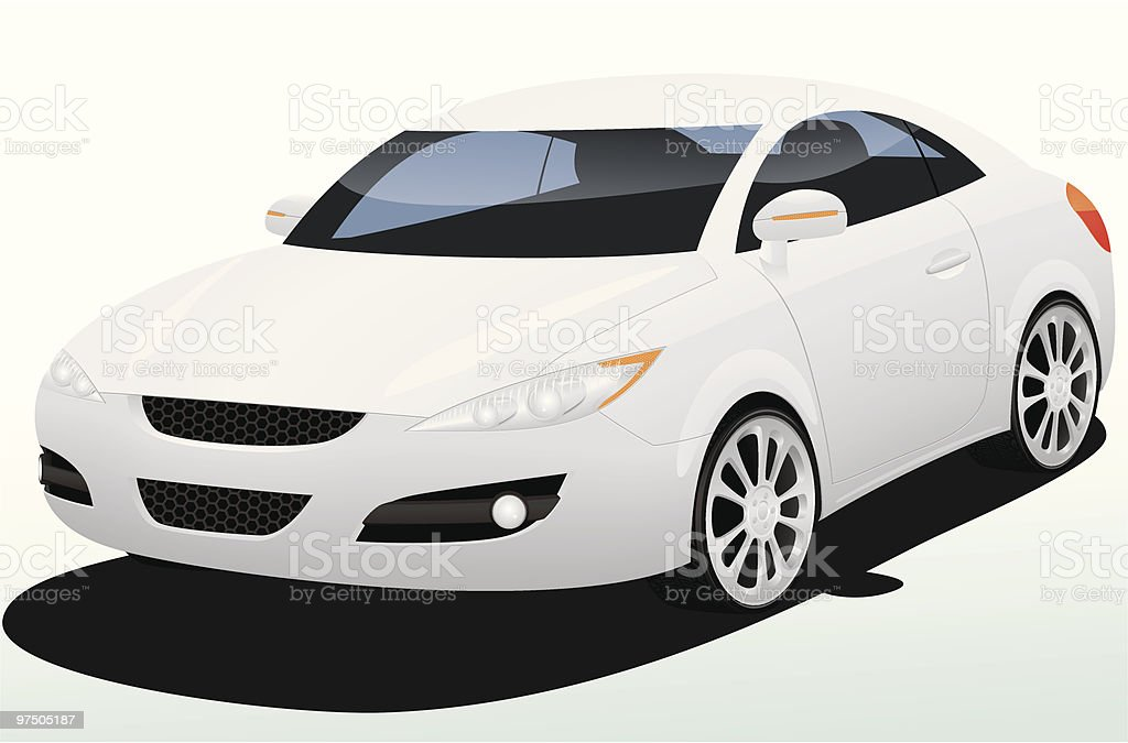 MuMu Silver Concept Car royalty-free stock vector art