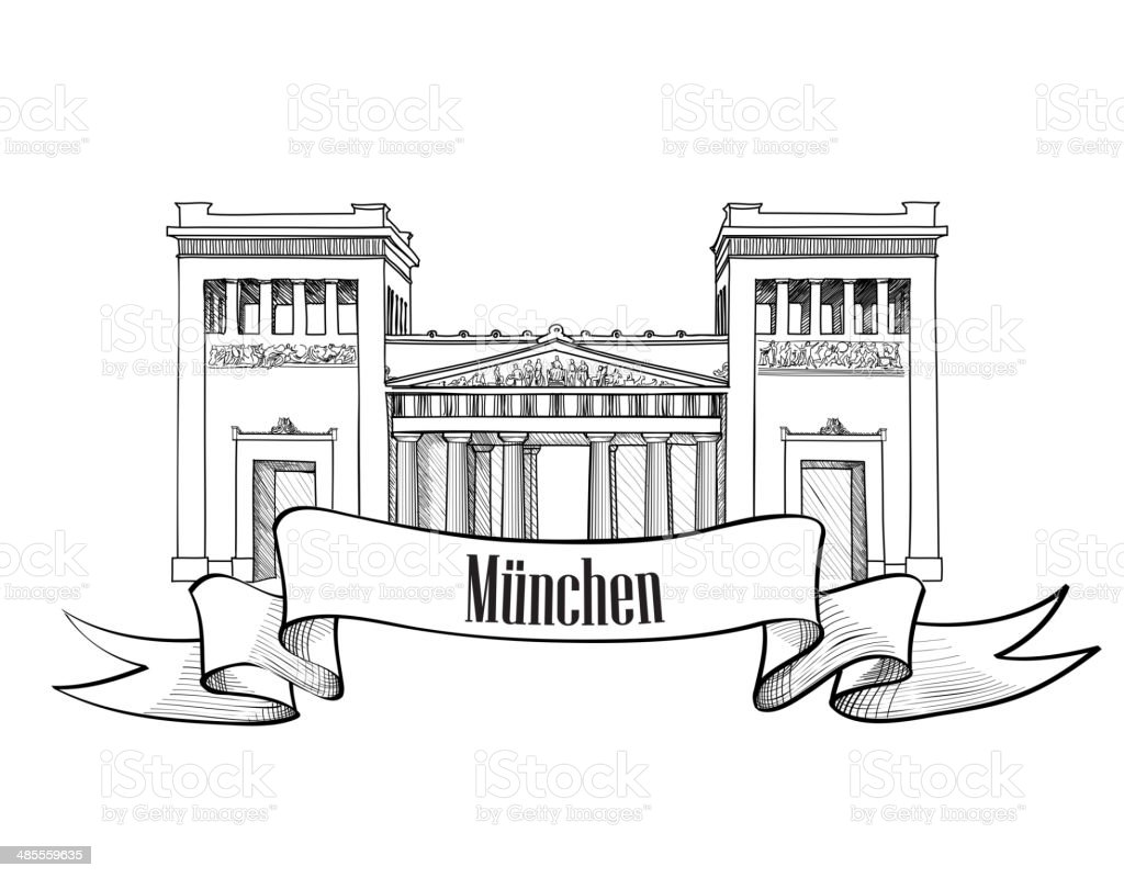 Munich symbol. Travel Germany symbol. vector art illustration