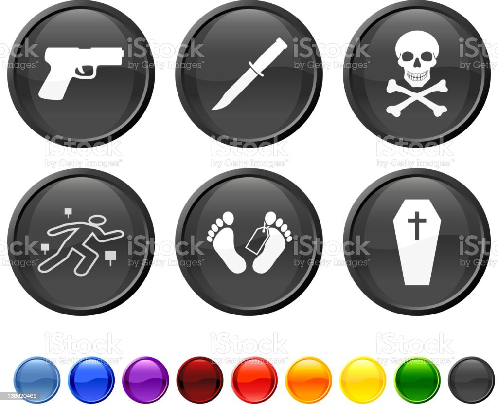 murder death kill royalty free vector icon set royalty-free stock vector art