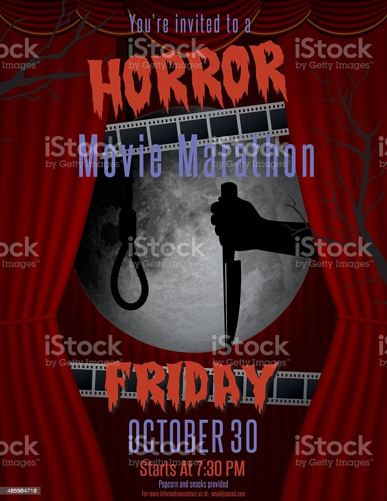 Murder Mystery Party Invitation Template vector art illustration