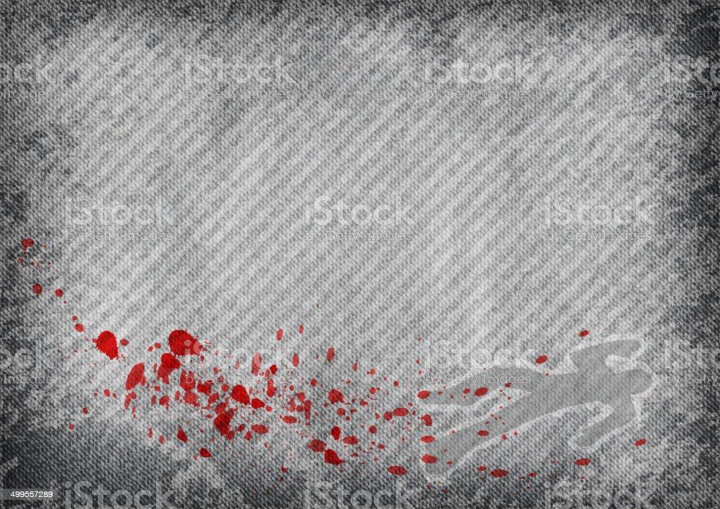 murder vector art illustration