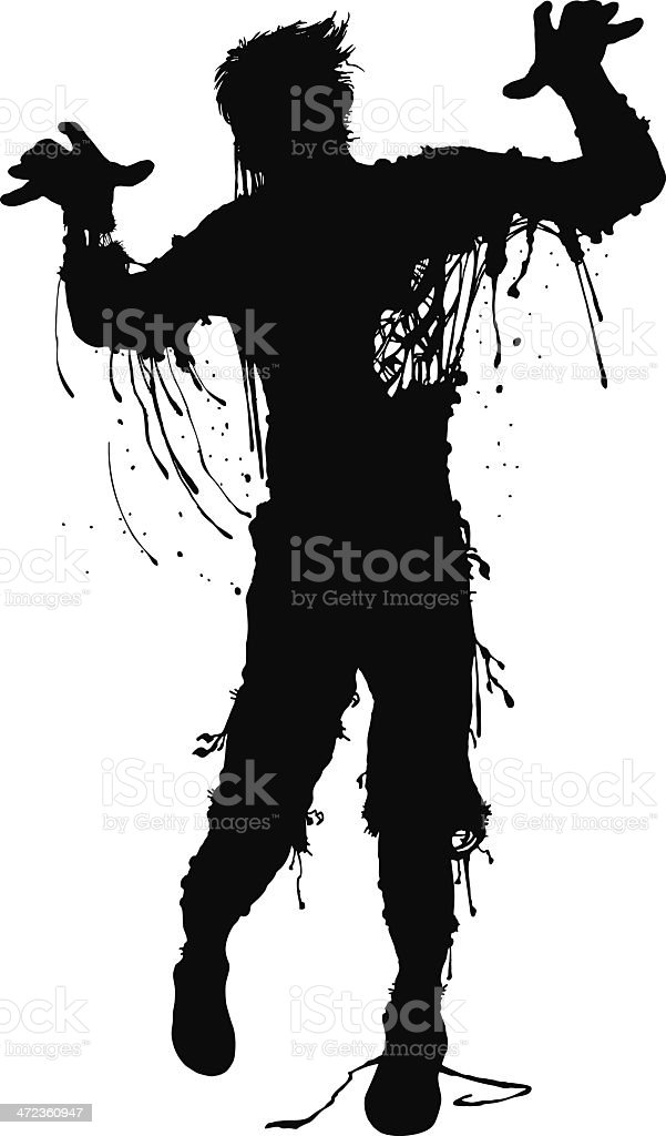Murphy McGee: Zombie at Large royalty-free stock vector art