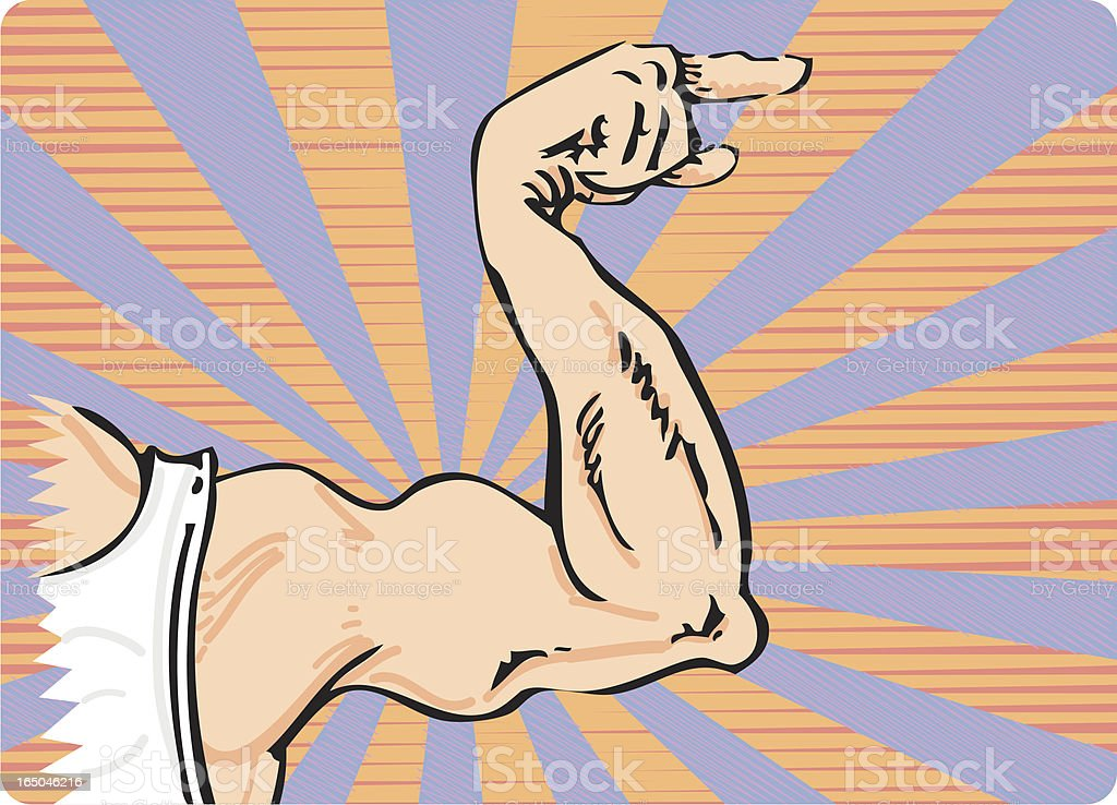Muscle Arm royalty-free stock vector art
