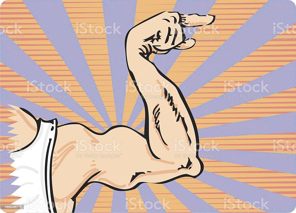 Muscle Arm vector art illustration