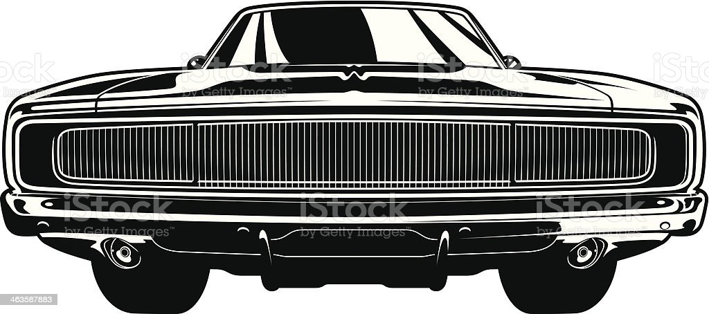 Muscle Car Front View Stock Vector Art Istock