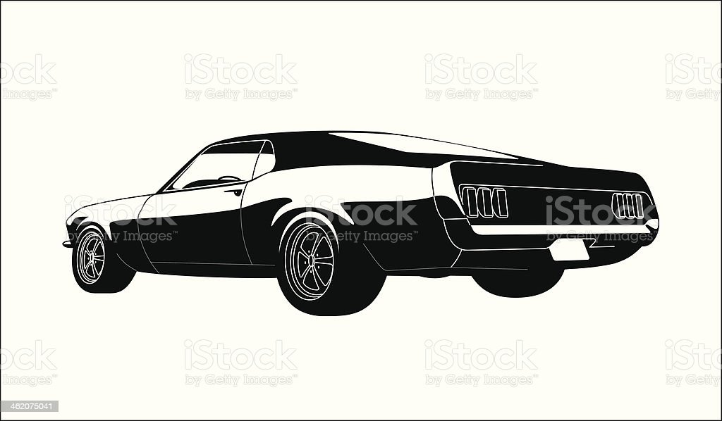 muscle car vector art illustration