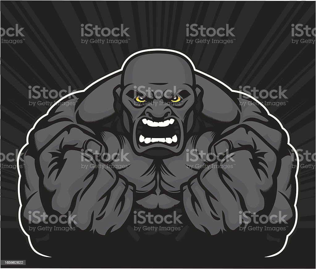 Muscle Man vector art illustration