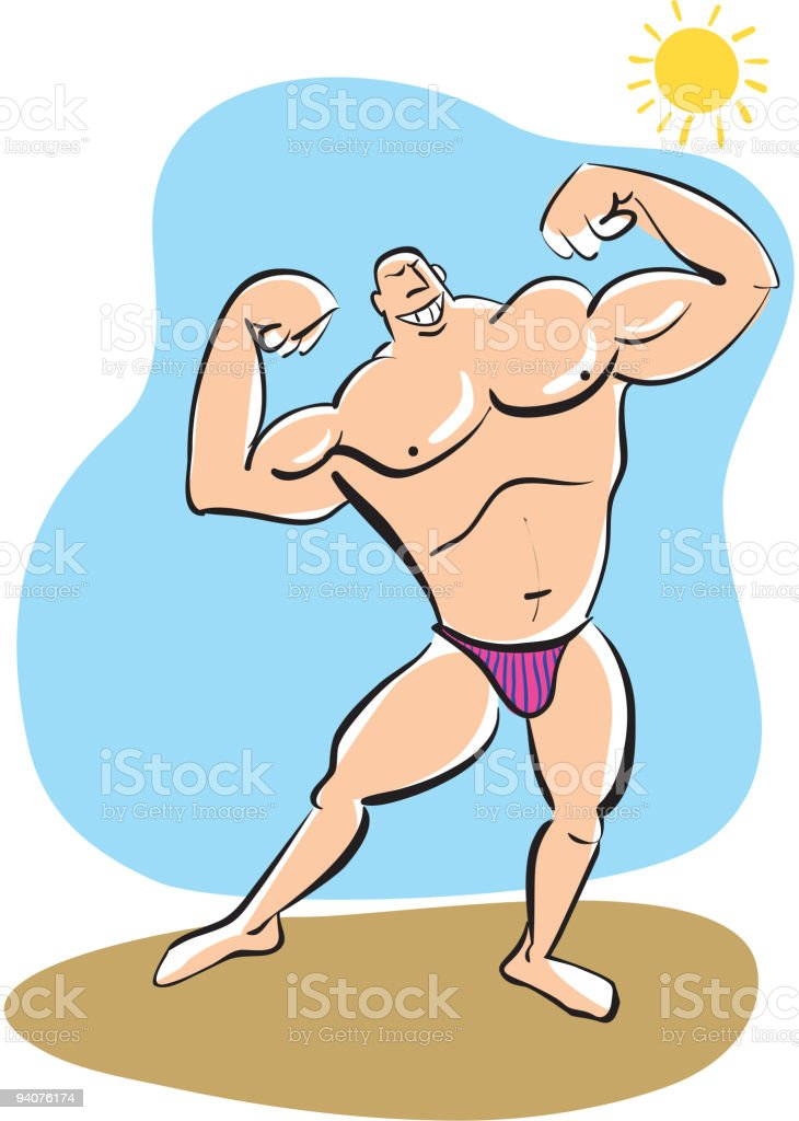 Muscleman royalty-free stock vector art
