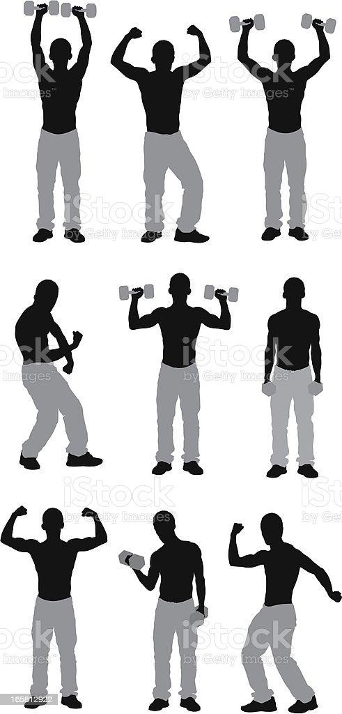 Muscular man exercising royalty-free stock vector art