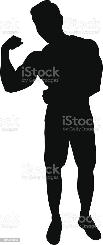 Muscular man royalty-free stock vector art