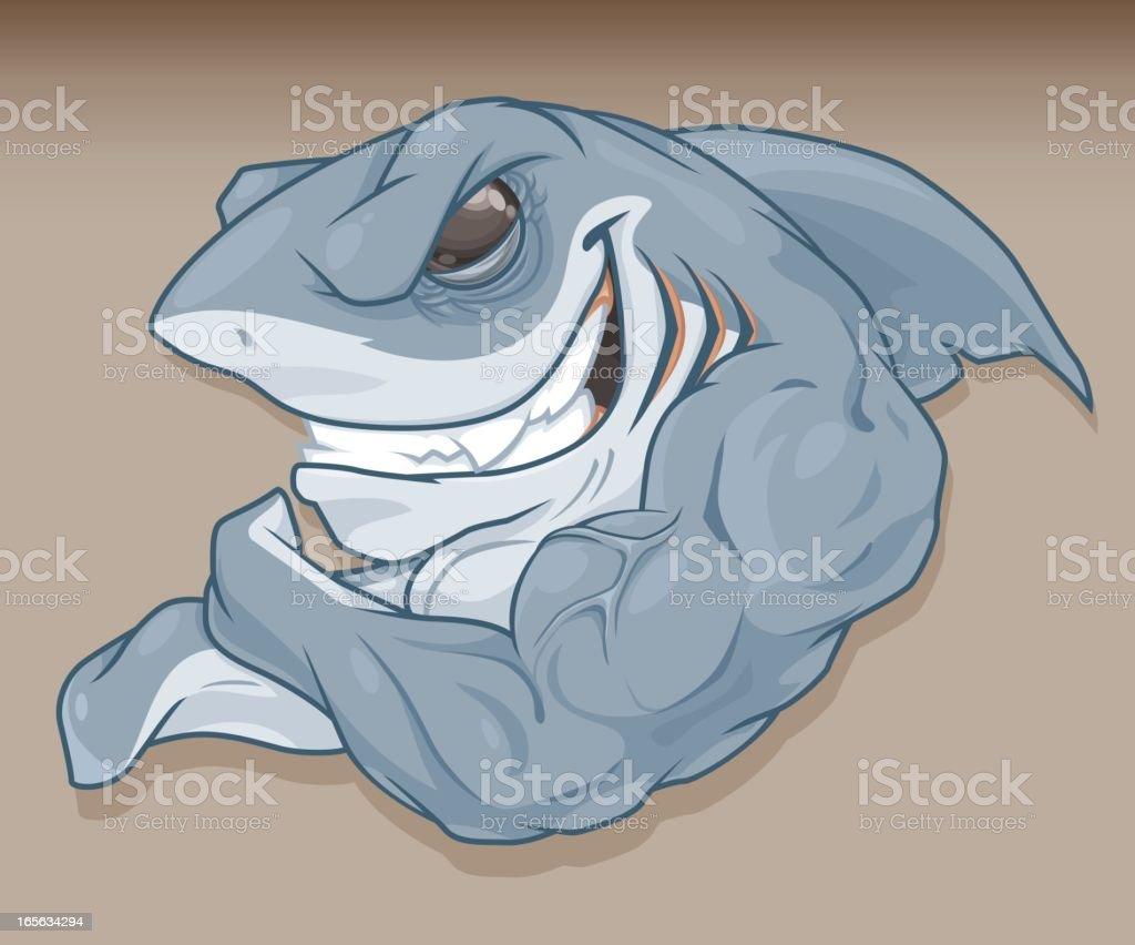 Muscular Shark royalty-free stock vector art