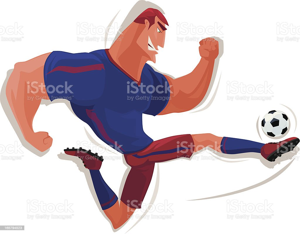 muscular soccer player royalty-free stock vector art