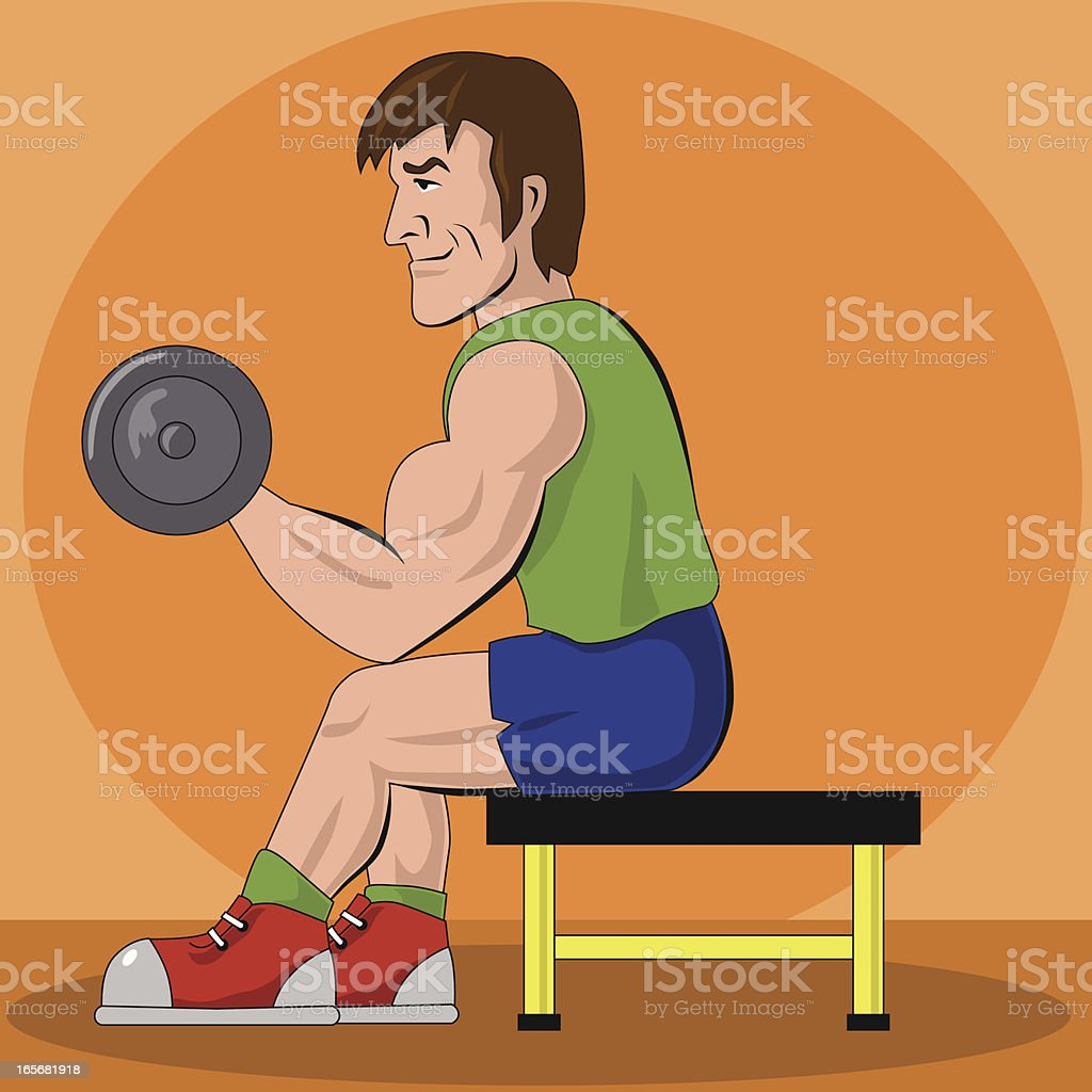 muscular sporting royalty-free stock vector art