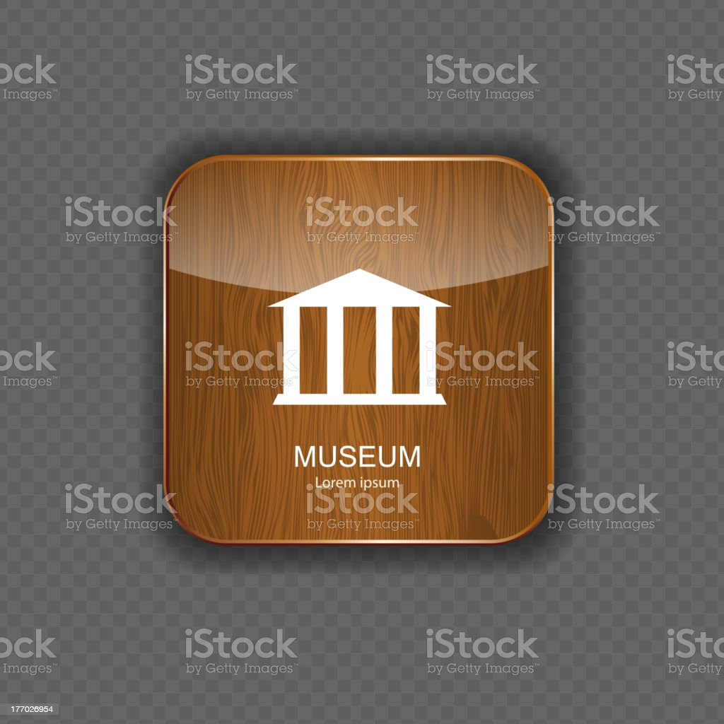 Museum application icons vector illustration royalty-free stock vector art