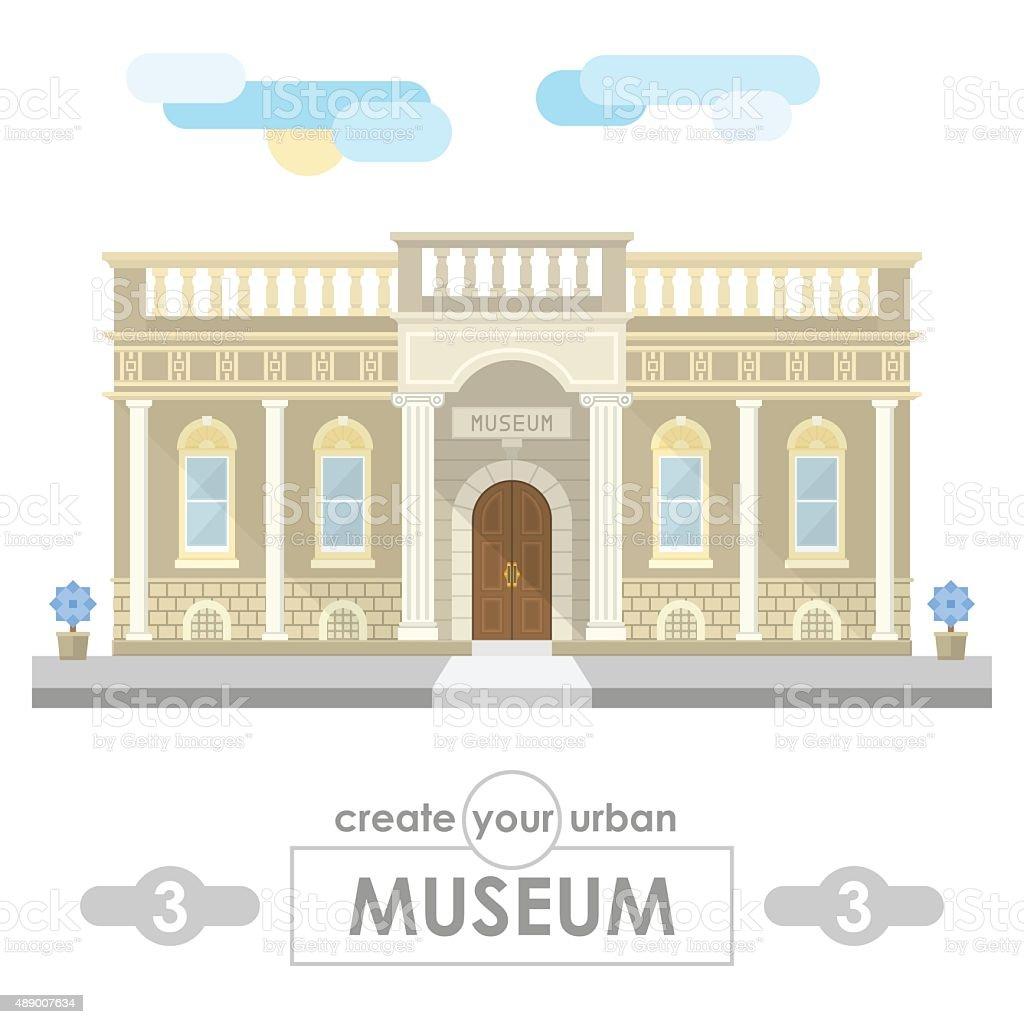 museum building flat vector design vector art illustration