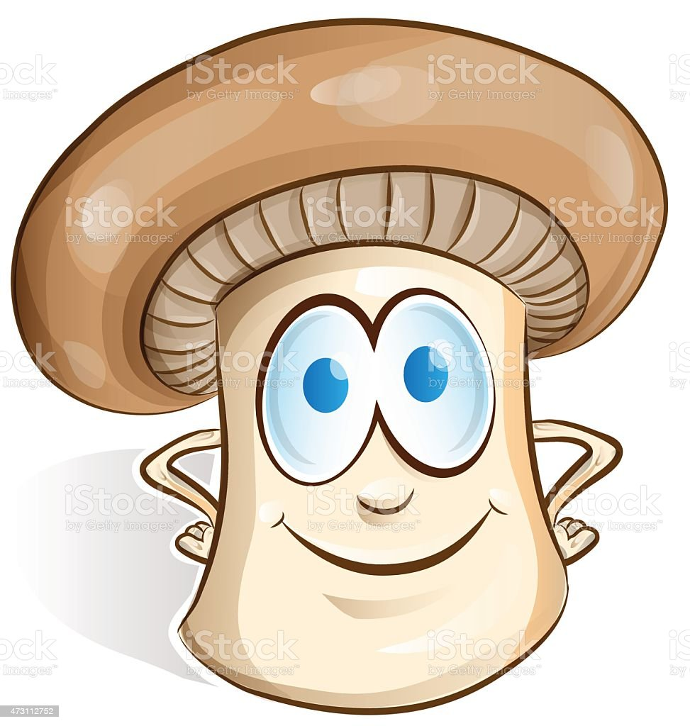 mushroom cartoon vector art illustration