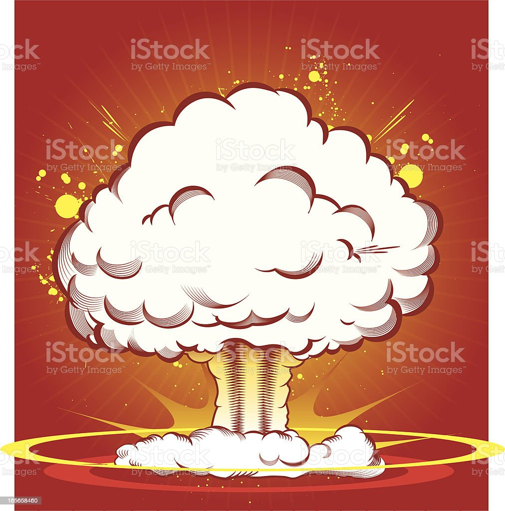 Mushroom Cloud royalty-free stock vector art